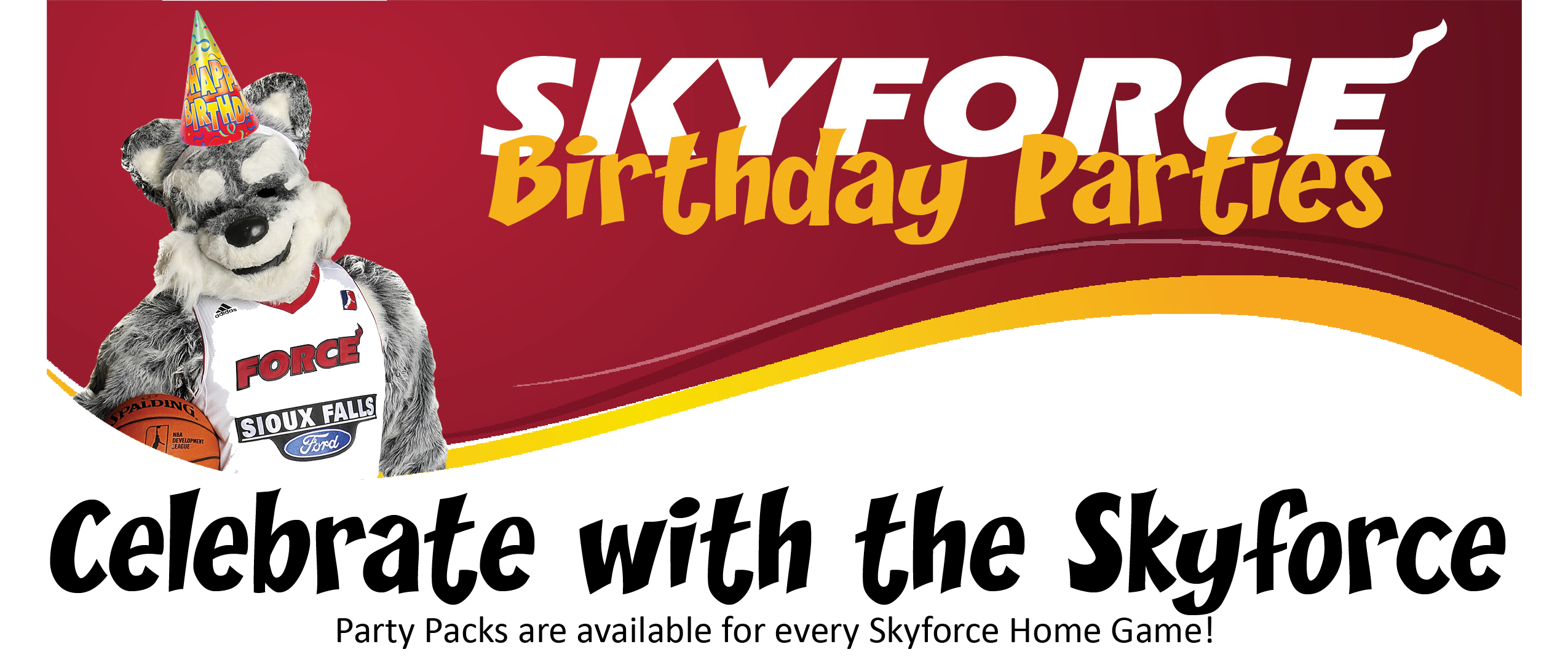 Skyforce Birthday Party Packs are available for every Skyforce home game... Come Celebrate with the Skyforce!
